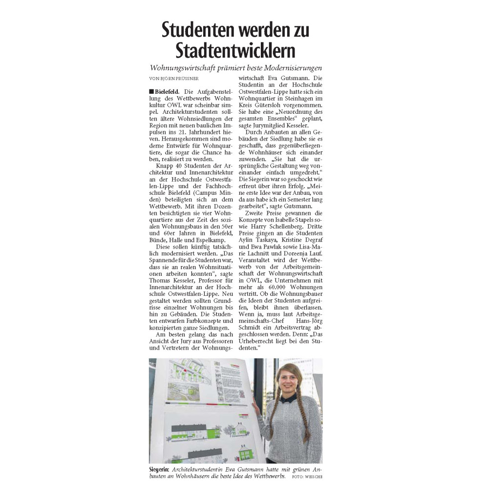 Artikel Neue Westfälische Nr. 30