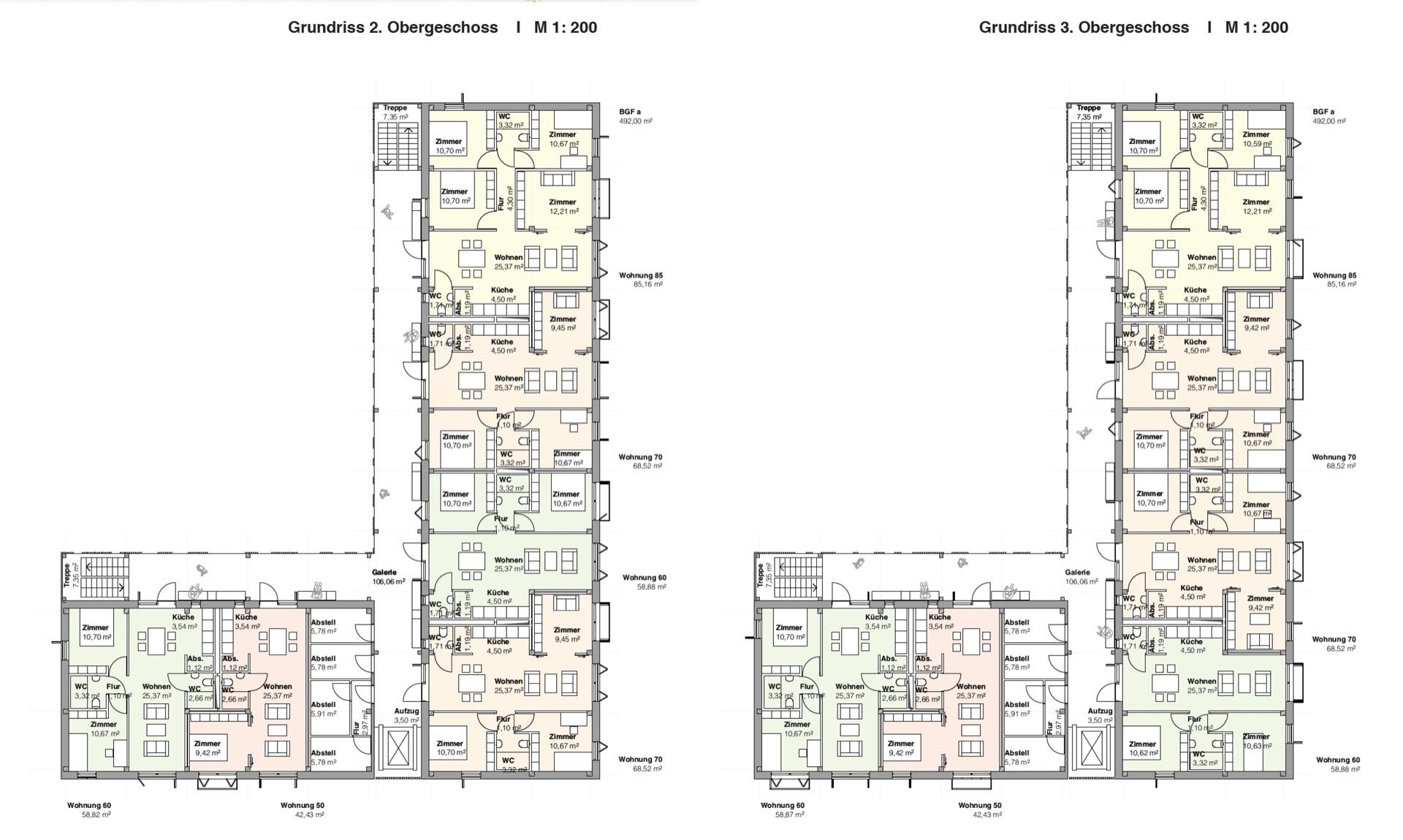 Grundrisse © Architekten BDA Feldschnieders + Kister