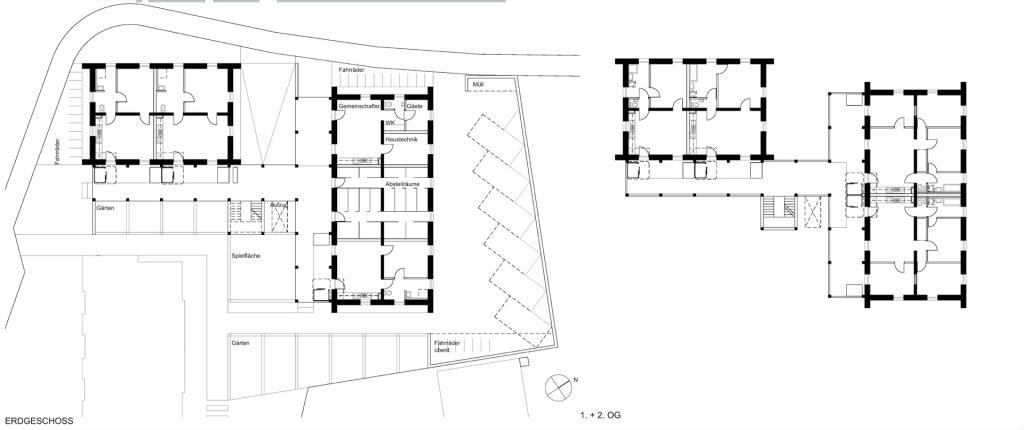 Grundrisse © Prof. C. Bonnen Architekt BDA