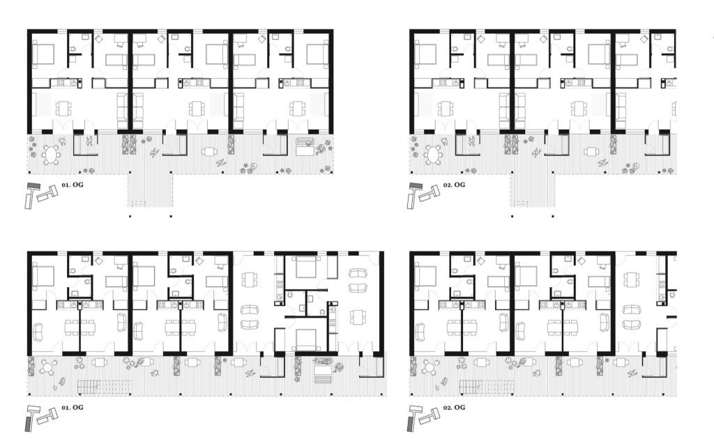 Grundrisse © N2M Architektur & Stadtplanung GmbH + fehlig moshfeghi architekten GbR
