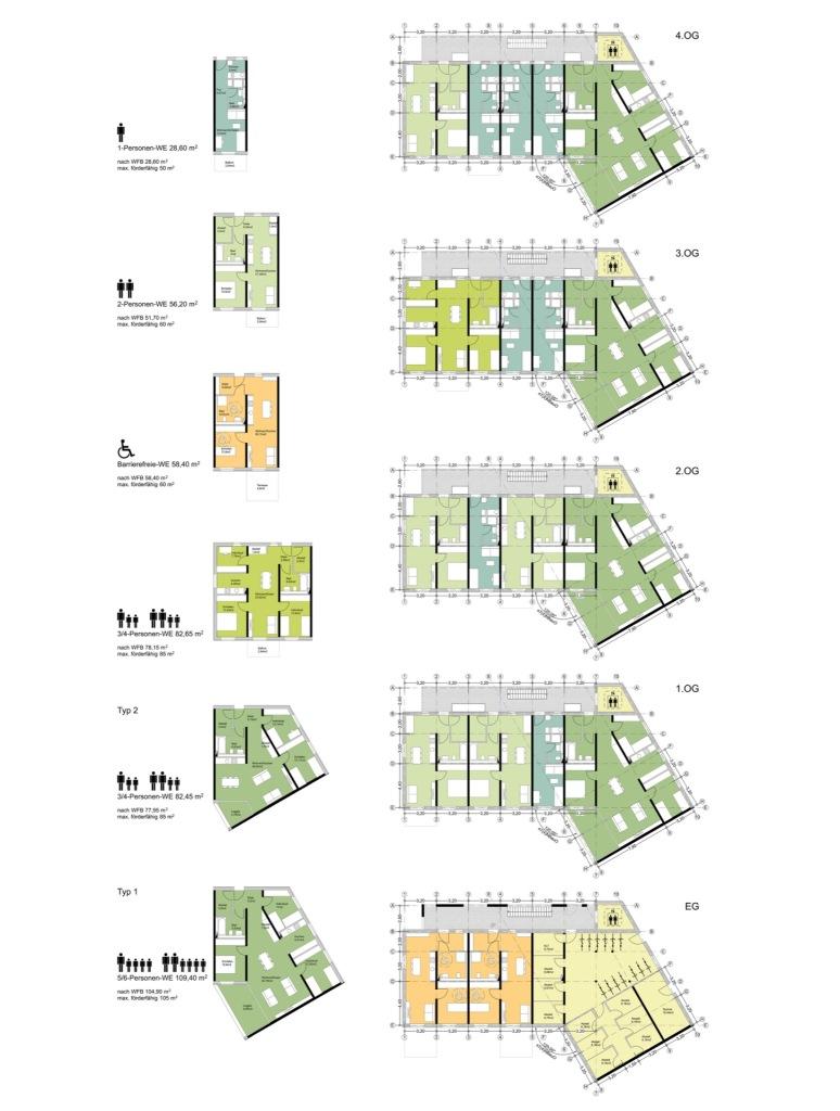 Grundrisse © btp architekten brandenburg tebarth partnerschaft mbB