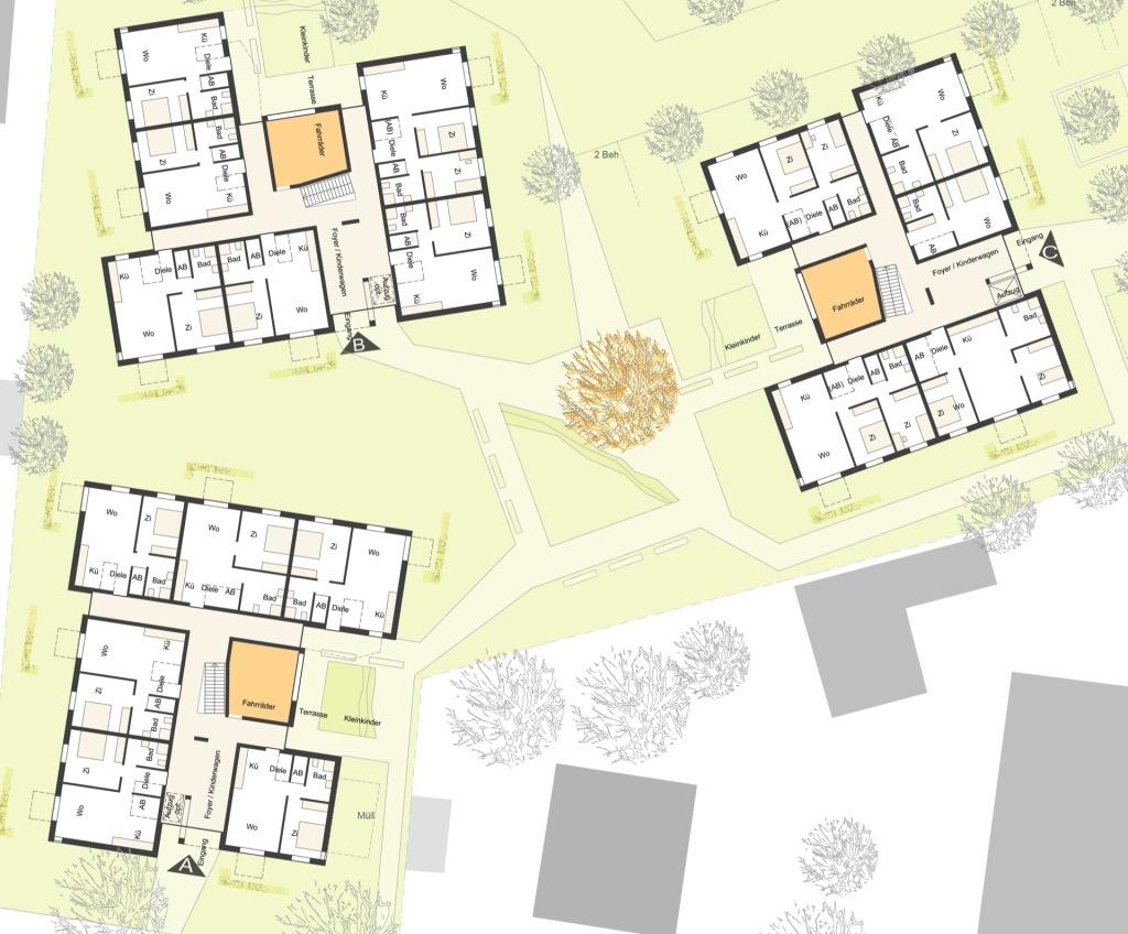 Grundrisse © martens sternkopf architekten stadtplaner