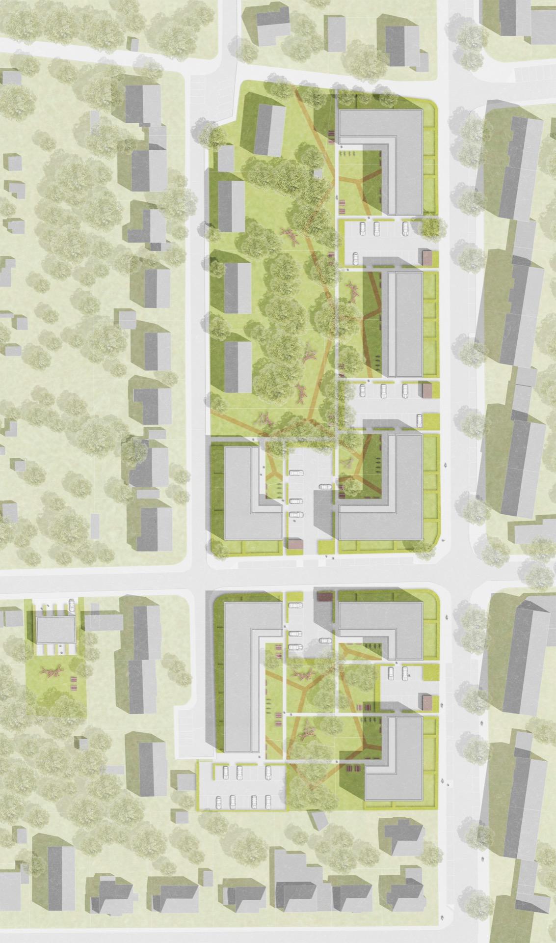 Lageplan © Architekten BDA Feldschnieders + Kister