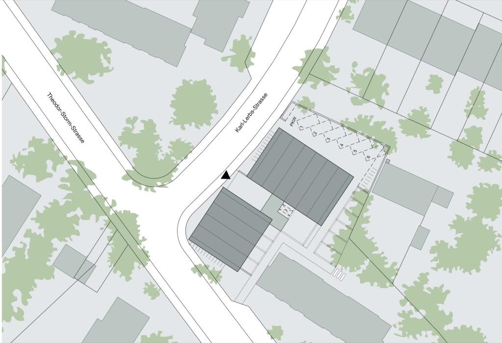 Lageplan © Prof. C. Bonnen Architekt BDA