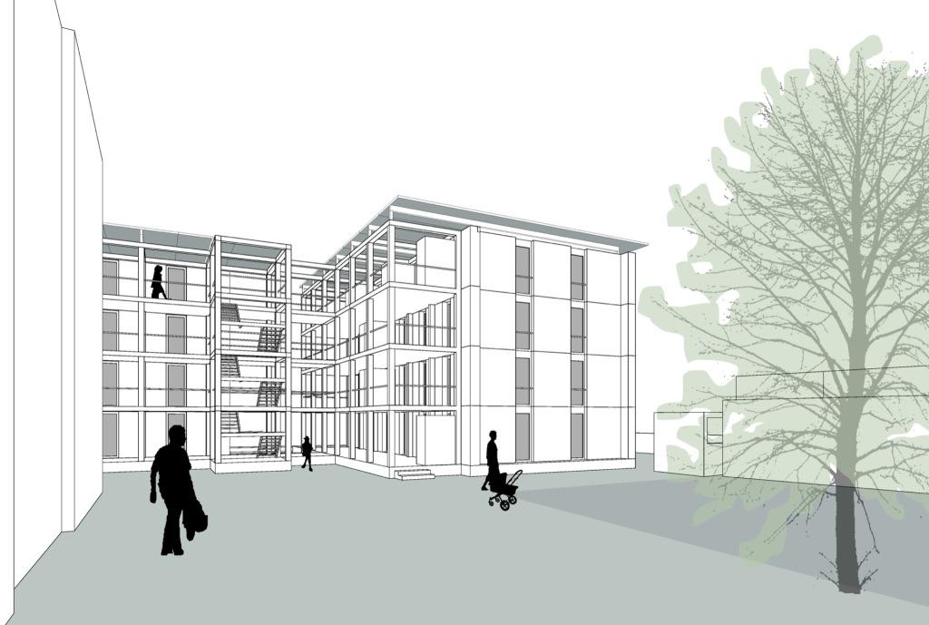 Visualisierung © Prof. C. Bonnen Architekt BDA