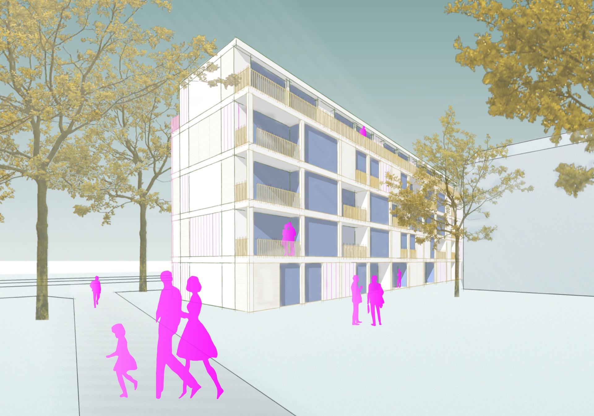 Visualisierung © Seyfarth Stahlhut Architekten BDA PARTGMBB
