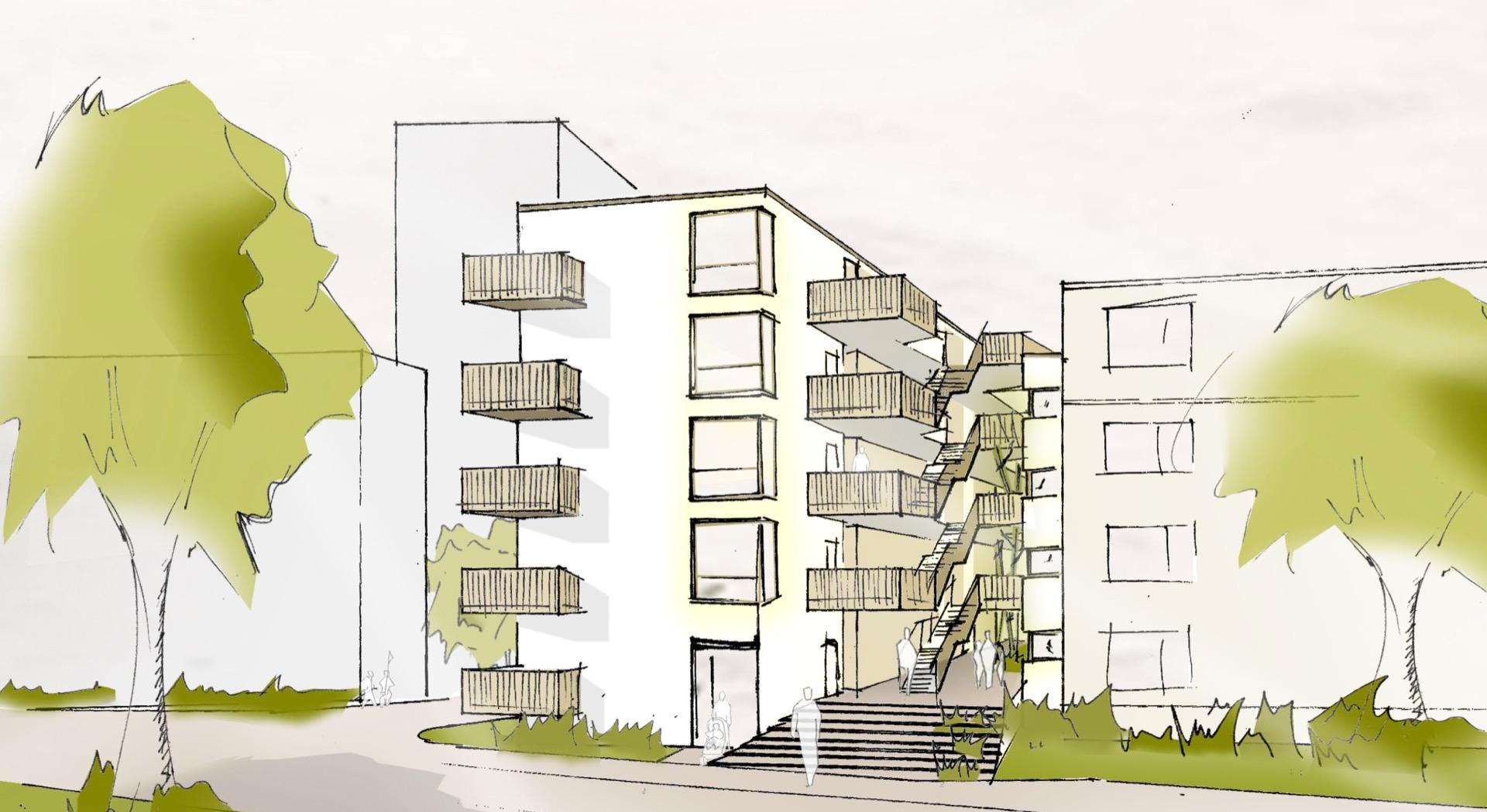 Visualisierung © Schneider + Sendelbach Architektengesellschaft mbH