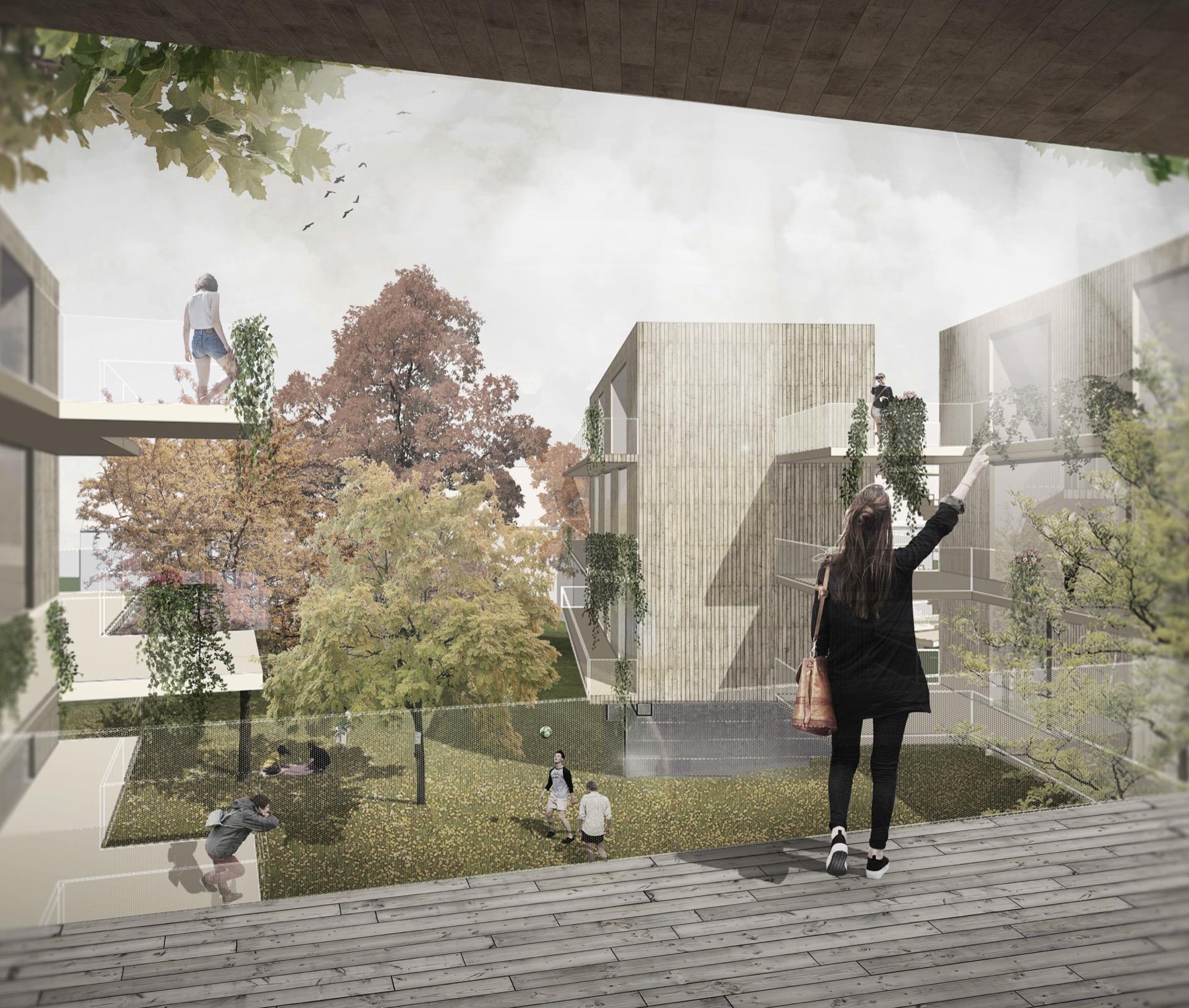 Visualisierung © Welp von Klitzing Architekten Stadtplaner